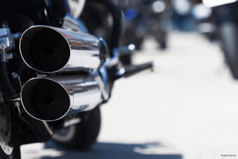 tubo de escape moto WD-40