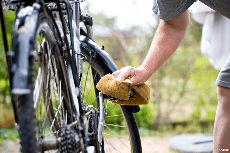 Lavagem da bicicleta