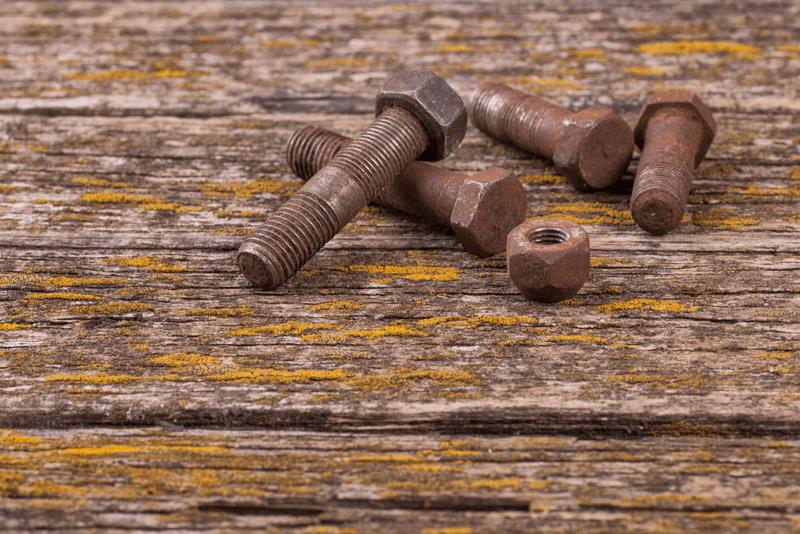 parafusos oxidados WD-40