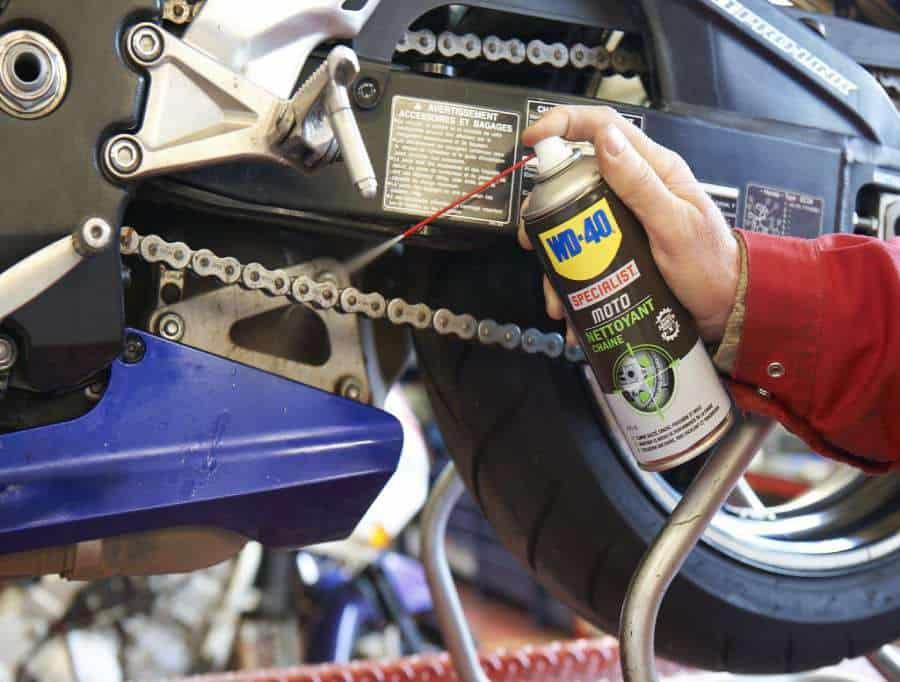 Manutenção da moto - Limpar e Lubrificar correntes
